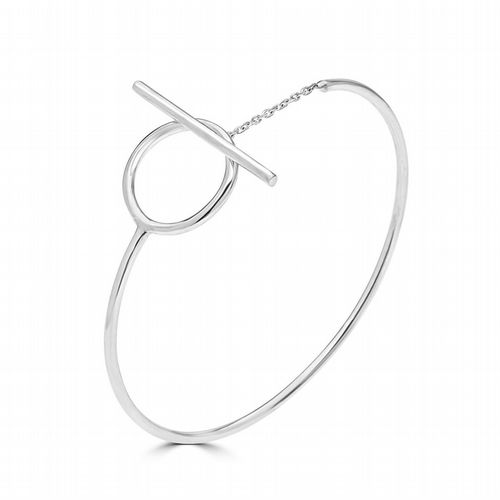 AMAI Jewellery - Hook & Eye Bangle - Silver